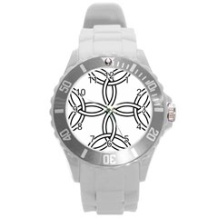 Carolingian Cross Round Plastic Sport Watch (l) by abbeyz71