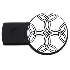 Carolingian Cross Usb Flash Drive Round (2 Gb) by abbeyz71