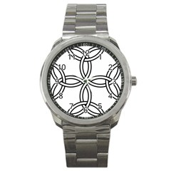 Carolingian Cross Sport Metal Watch by abbeyz71