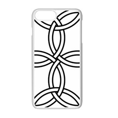 Carolingian Cross Apple Iphone 7 Plus White Seamless Case