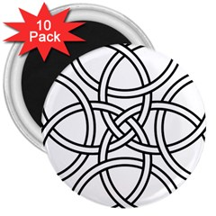 Carolingian Cross 3  Magnets (10 Pack)  by abbeyz71