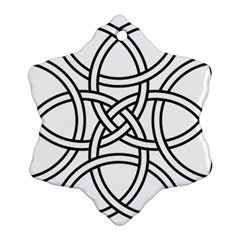 Carolingian Cross Ornament (snowflake) by abbeyz71