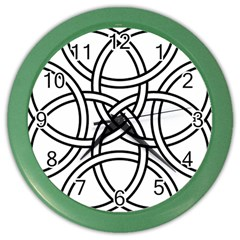 Carolingian Cross Color Wall Clocks by abbeyz71