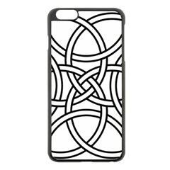Carolingian Cross Apple Iphone 6 Plus/6s Plus Black Enamel Case by abbeyz71