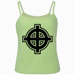 Celtic Cross Green Spaghetti Tank by abbeyz71