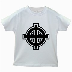 Celtic Cross Kids White T-shirts by abbeyz71