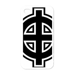 Celtic Cross Apple Iphone 4 Case (white) by abbeyz71