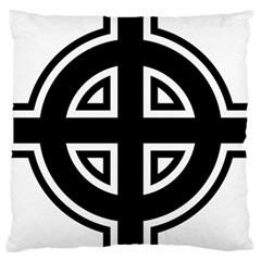 Celtic Cross Large Cushion Case (one Side) by abbeyz71