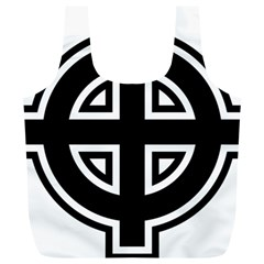 Celtic Cross Full Print Recycle Bags (l)  by abbeyz71