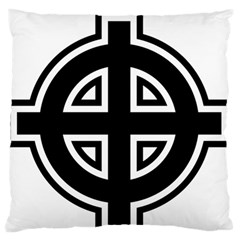 Celtic Cross Large Flano Cushion Case (one Side) by abbeyz71