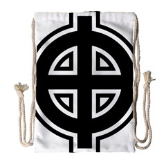 Celtic Cross Drawstring Bag (large) by abbeyz71