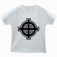 Celtic Cross Kids White T Shirts by abbeyz71