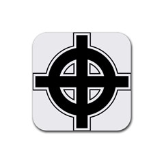 Celtic Cross Rubber Square Coaster (4 Pack)  by abbeyz71