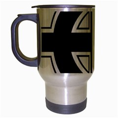 Celtic Cross Travel Mug (silver Gray) by abbeyz71