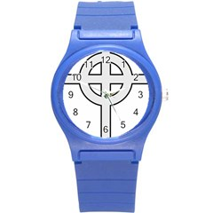 Celtic Cross  Round Plastic Sport Watch (s) by abbeyz71