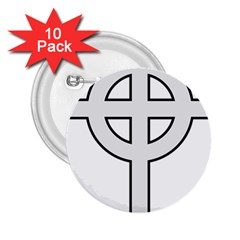 Celtic Cross  2 25  Buttons (10 Pack)  by abbeyz71