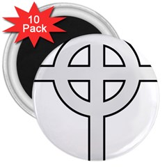 Celtic Cross  3  Magnets (10 Pack)  by abbeyz71