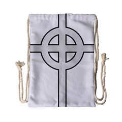 Celtic Cross  Drawstring Bag (small) by abbeyz71