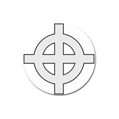 Celtic Cross  Magnet 3  (round) by abbeyz71