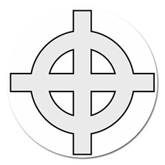 Celtic Cross  Magnet 5  (round) by abbeyz71