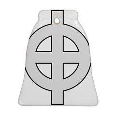 Celtic Cross  Bell Ornament (two Sides) by abbeyz71