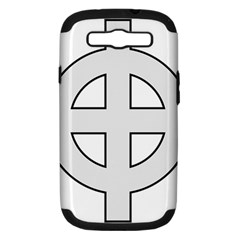 Celtic Cross  Samsung Galaxy S Iii Hardshell Case (pc+silicone) by abbeyz71
