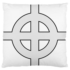 Celtic Cross  Large Flano Cushion Case (two Sides) by abbeyz71