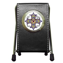 Coptic Cross Pen Holder Desk Clocks