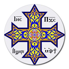 Coptic Cross Round Mousepads by abbeyz71