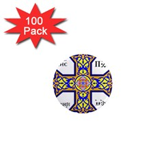Coptic Cross 1  Mini Magnets (100 Pack)  by abbeyz71