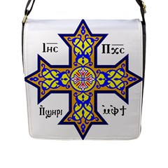 Coptic Cross Flap Messenger Bag (l)  by abbeyz71