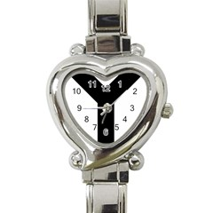 Forked Cross Heart Italian Charm Watch by abbeyz71