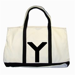 Forked Cross Two Tone Tote Bag by abbeyz71