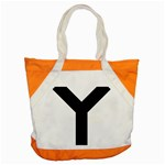 Forked Cross Accent Tote Bag Front