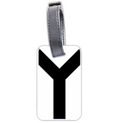 Forked Cross Luggage Tags (one Side)  by abbeyz71