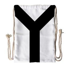 Forked Cross Drawstring Bag (large) by abbeyz71