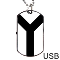 Forked Cross Dog Tag Usb Flash (one Side) by abbeyz71