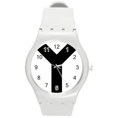 Forked Cross Round Plastic Sport Watch (m) by abbeyz71