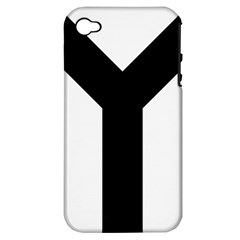Forked Cross Apple Iphone 4/4s Hardshell Case (pc+silicone) by abbeyz71