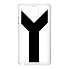 Forked Cross Samsung Galaxy Note 3 N9005 Case (white) by abbeyz71