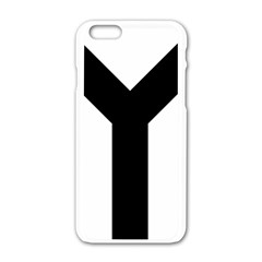Forked Cross Apple Iphone 6/6s White Enamel Case by abbeyz71