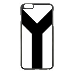 Forked Cross Apple Iphone 6 Plus/6s Plus Black Enamel Case by abbeyz71