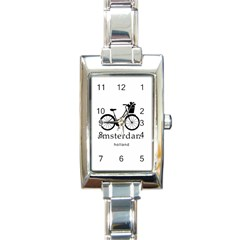 Amsterdam Rectangle Italian Charm Watch by Valentinaart