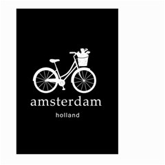 Amsterdam Large Garden Flag (two Sides) by Valentinaart