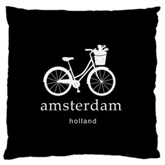 Amsterdam Large Cushion Case (one Side) by Valentinaart