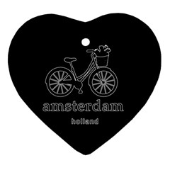 Amsterdam Heart Ornament (two Sides) by Valentinaart