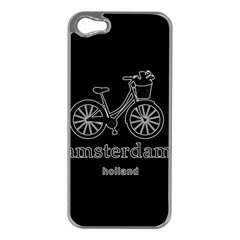 Amsterdam Apple Iphone 5 Case (silver) by Valentinaart