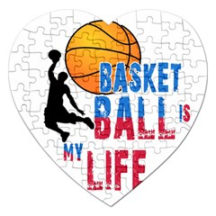 Basketball Is My Life Jigsaw Puzzle (heart) by Valentinaart