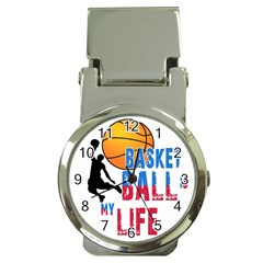 Basketball Is My Life Money Clip Watches by Valentinaart