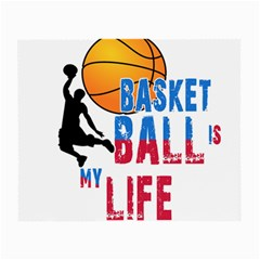 Basketball Is My Life Small Glasses Cloth (2 Side) by Valentinaart